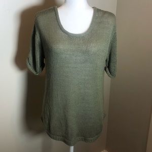 Beautiful H & M Knit military green top